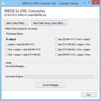MBOX to EML Converter screenshot