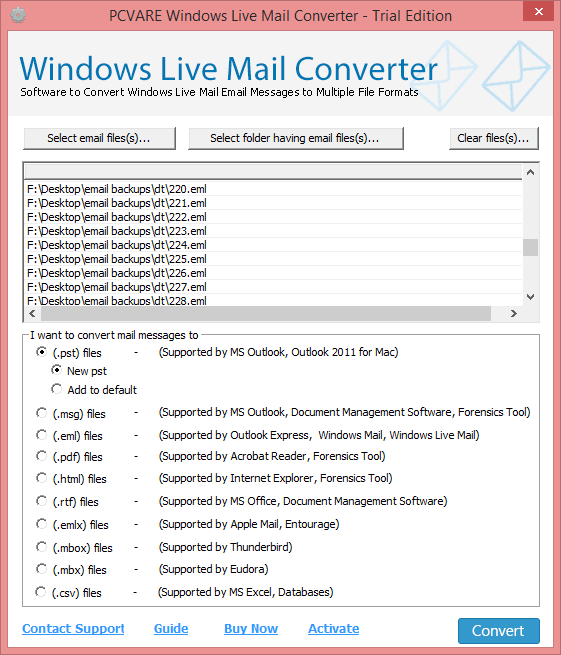 Import 0119;indows Live Mail emails 7.2.3