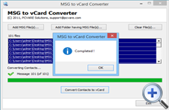 MSG Contacts to VCF Converter