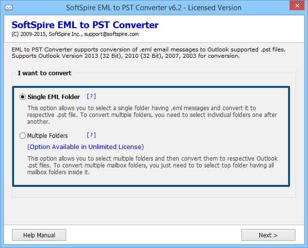 Batch Print EML Files into Outlook