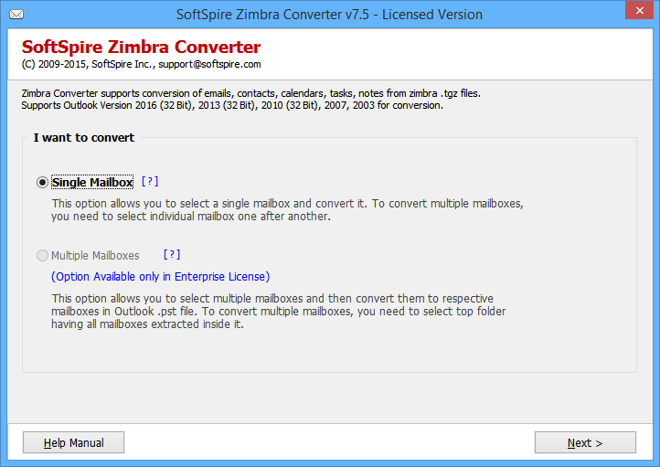 Import Emails from Zimbra to Outlook PST 8.3